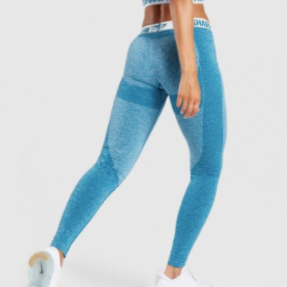 0f755d3951522 GYMSHARK FLEX LEGGINGS TEAL ICE BLUE S